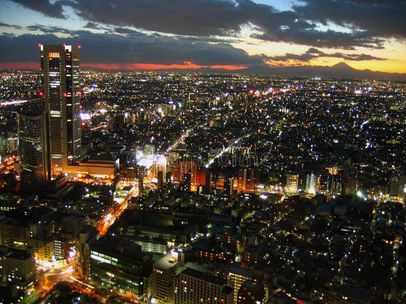 japan tokyo skymning royaltyfria bilder
