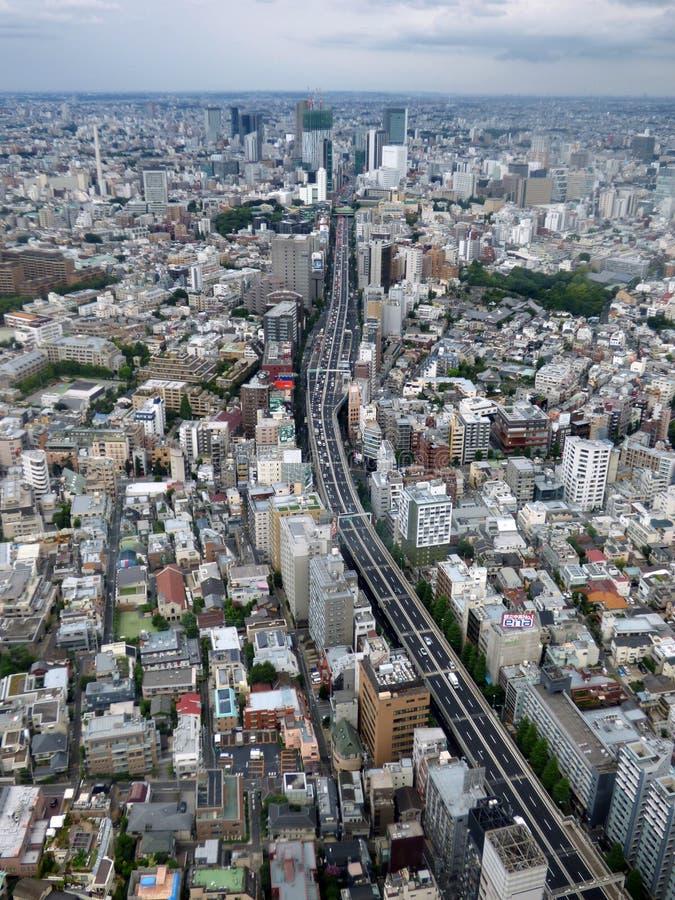 japan Tokyo Vue de tour de vue de ville de Tokyo images stock