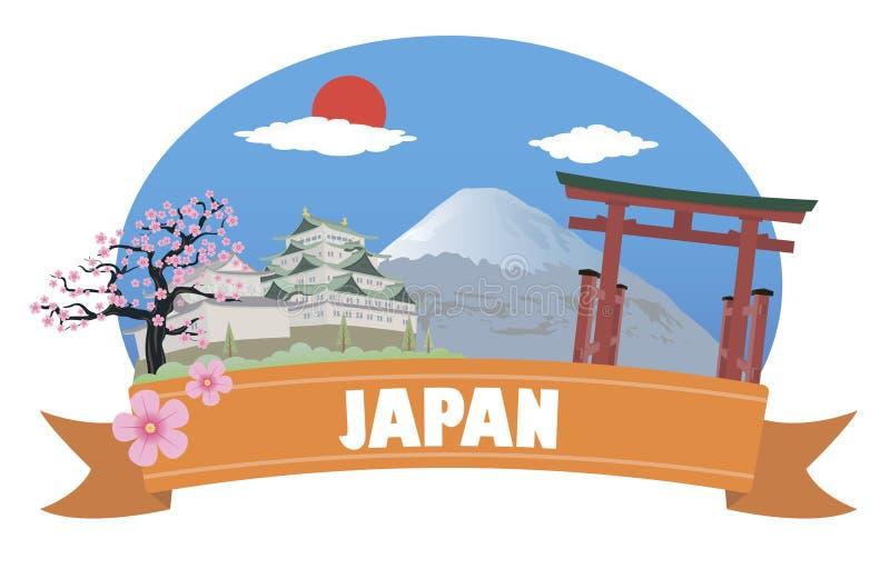 japan Tourisme et voyage illustration de vecteur