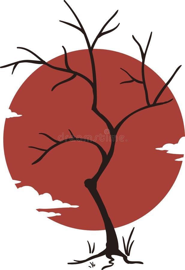 Japan träd royaltyfria bilder