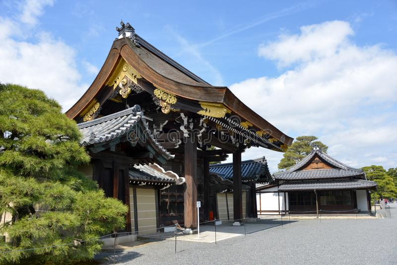 Japan Travel Kyoto Imperial Palace march 2018. Japan Travel Kyoto Imperial Palace, traditional wooden gate march 2018 stock images