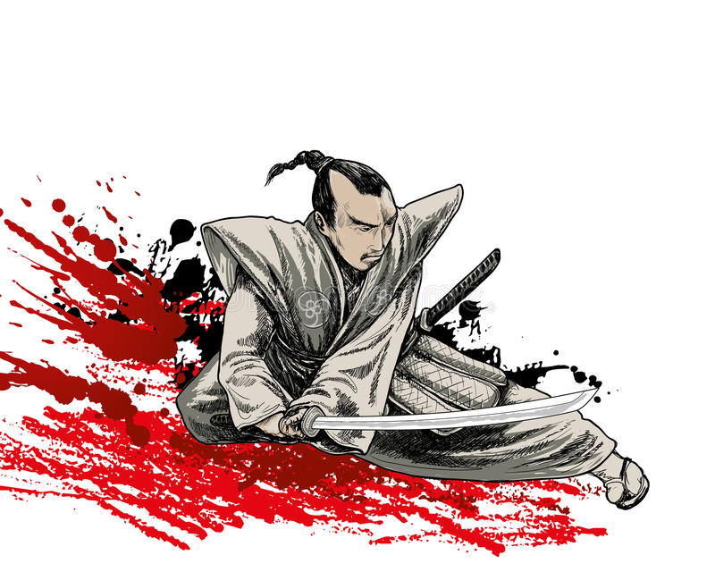 Download Japan warrior stock vector. Image of fighter, grunge - 25807176