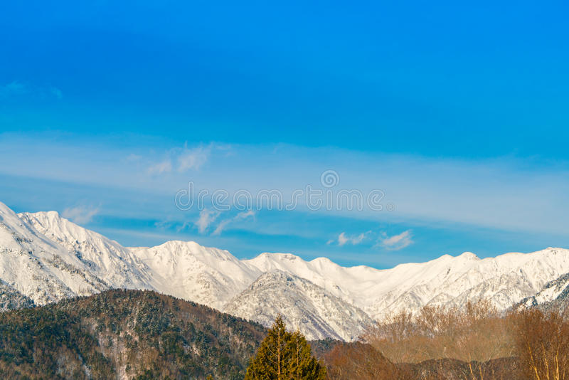 Japan Winter mountain with snow covered. Japan Winter mountain with snow covered stock photography