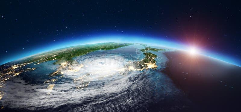 Japan-Wirbelsturm Wiedergabe 3d stockbilder