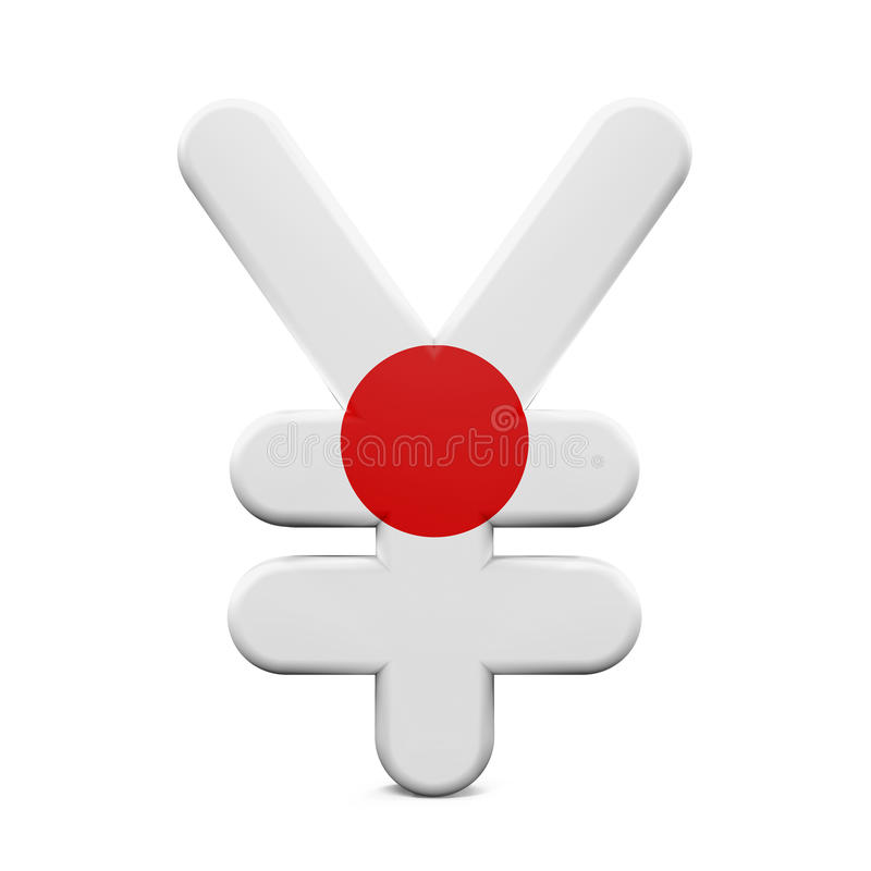 Japan Yen Symbol With Flag Stock Illustration Illustration Of Sign