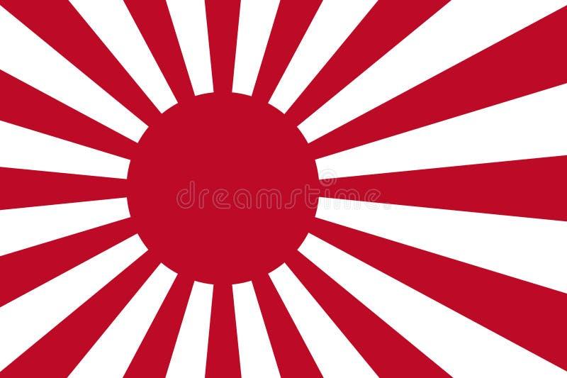 japananese marin för flagga vektor illustrationer