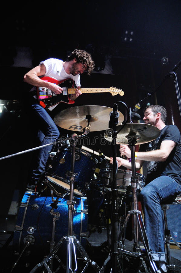 Japandroids band performs at San Miguel Primavera Sound Festival. BARCELONA, SPAIN - MAY 31: Japandroids band performs at San Miguel Primavera Sound Festival on royalty free stock photography