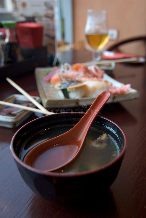japaneese restaurang för mat fotografering för bildbyråer
