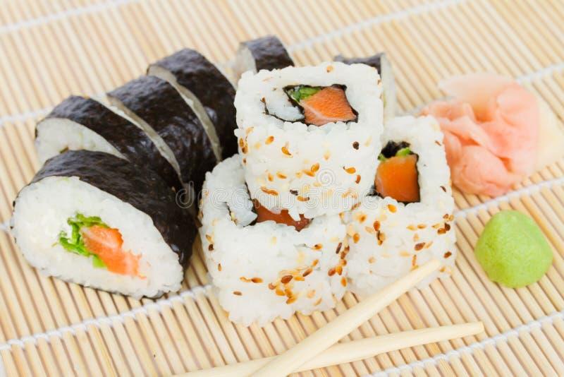Japaneese sushi royaltyfri fotografi