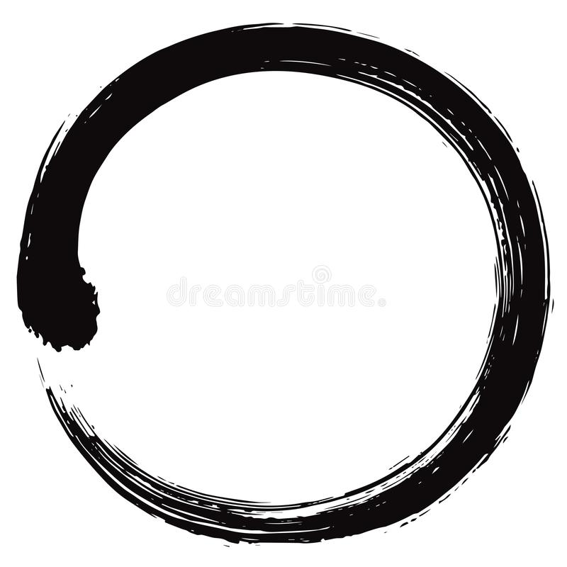 Japaner Enso Zen Circle Brush Vector vektor abbildung