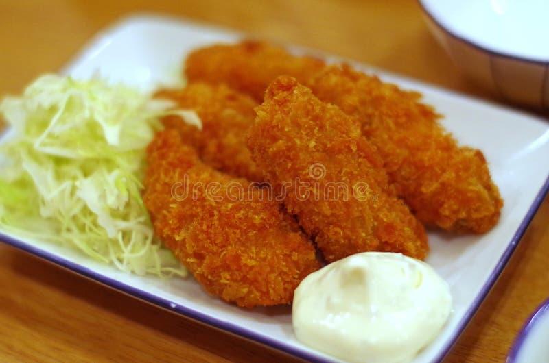 Japaner Fried Oysters stockbilder