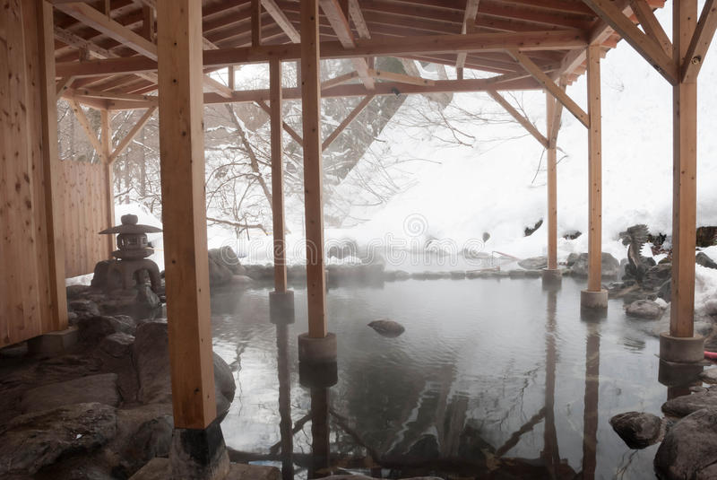 Japaner-geöffnete Luft-Bad stockbild