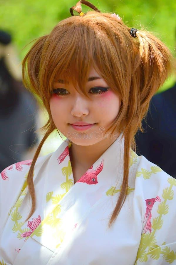 Japaner Kabuki-Ausführender im Kostüm lizenzfreie stockfotografie