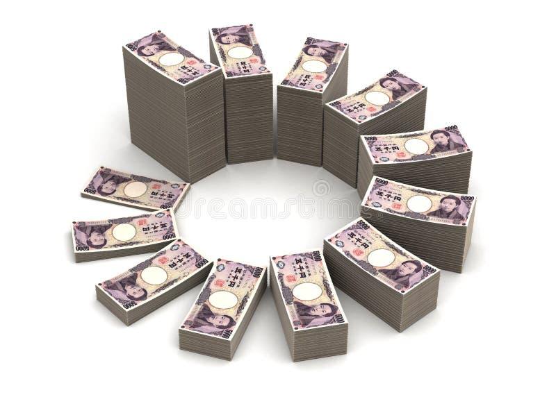 Japaner Yen Chart lizenzfreie abbildung