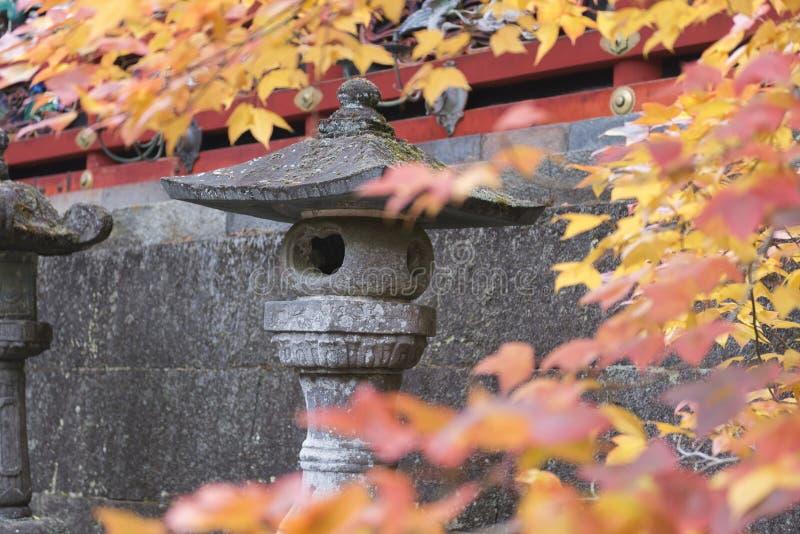 Japanertoro-Laterne im Herbst stockfoto