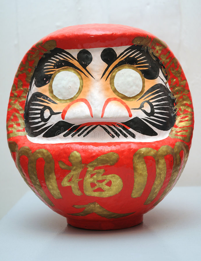 Japanerwunschpuppe (daruma) stockfotografie