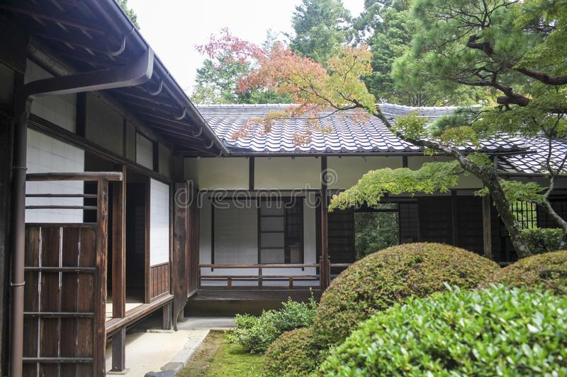 Japanese ancient house royalty free stock photo