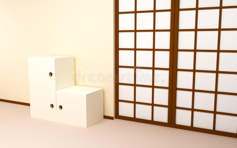 Download Japanese Backdrop With Retro Tv Stock Illustration - Image: 24400214
