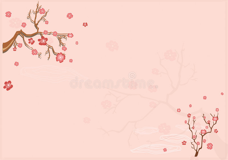 japanese background with sacur stock vector - image: 2341128, Powerpoint templates