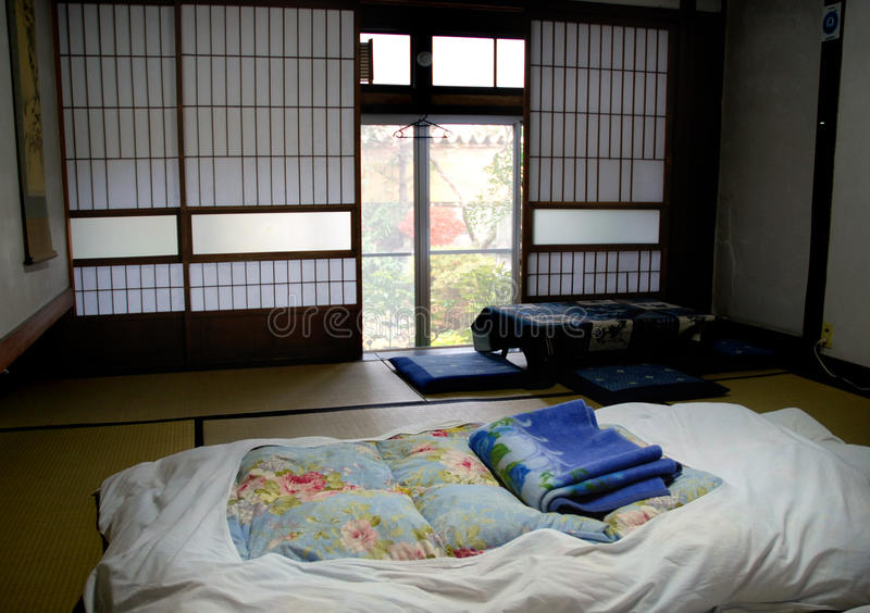 Japanese bedroom stock image