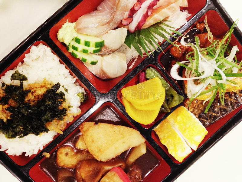 japanese bento box stock photo image of japanese lunch 32305858. Black Bedroom Furniture Sets. Home Design Ideas