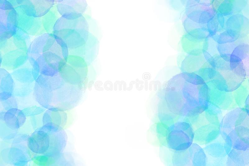 Japanese blue ink water rain abstract or pastel watercolor paint background. Japanese clear blue ink water rain abstract or pastel watercolor paint background stock illustration