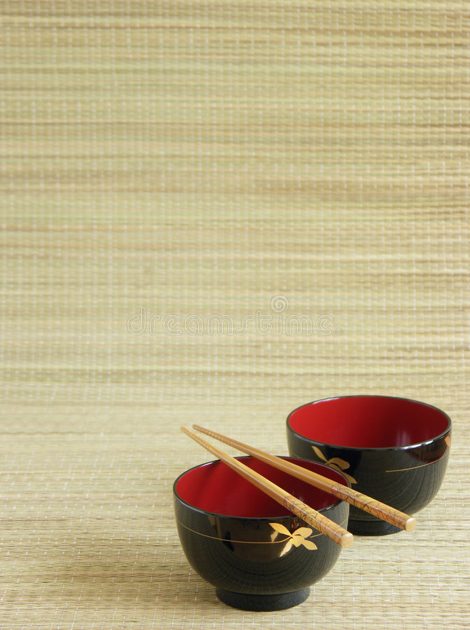 Download Japanese Bowls With Chopsticks Stock Image - Image: 4346655