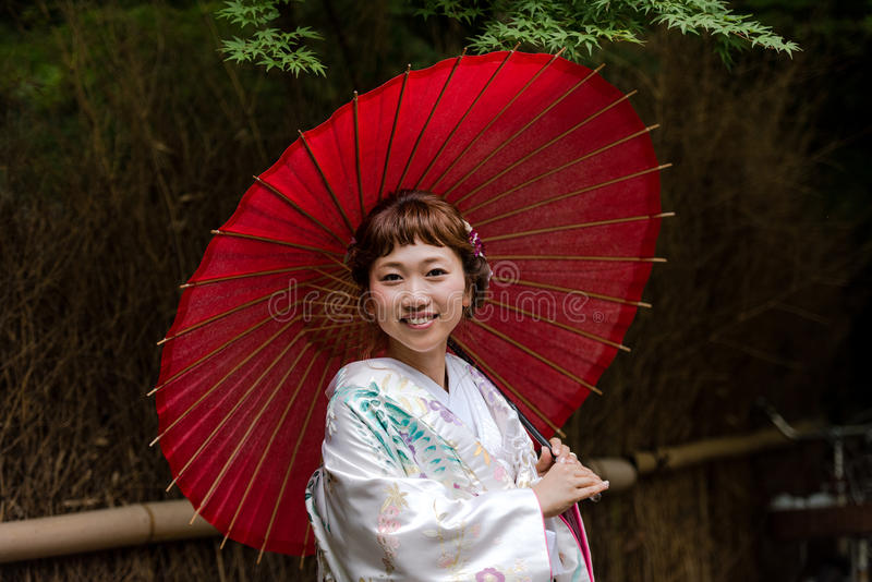 Japanese Bride stock photos