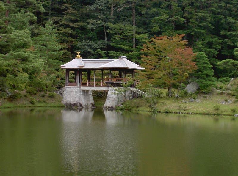 Japanese bridge royalty free stock photography