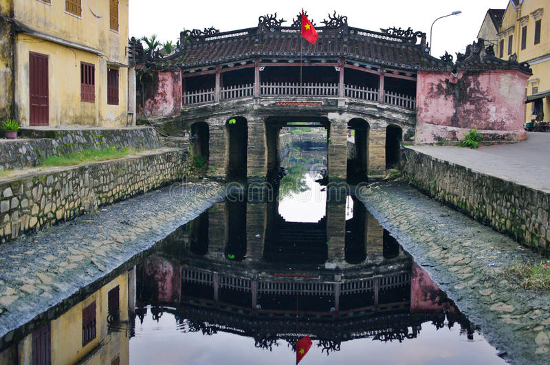 Japanese Bridge in Hoi An. Vietnam. royalty free stock photography