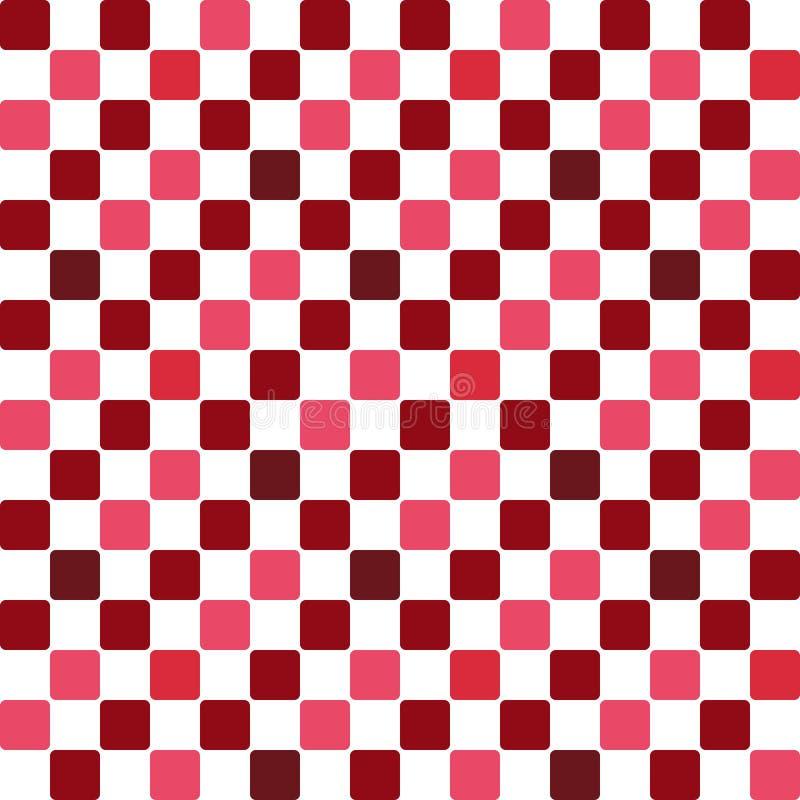 Japanese Brown Checker Seamless Pattern 库存例证