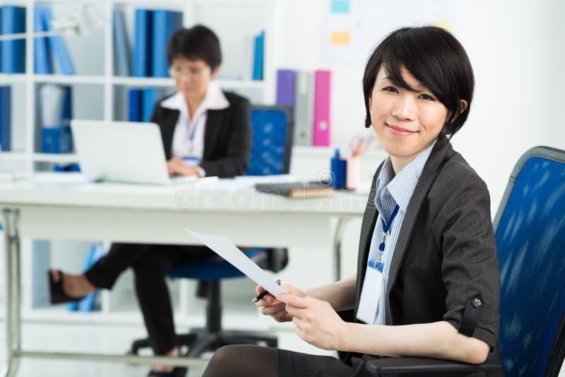 Japanese businesswoman royalty free stock photo