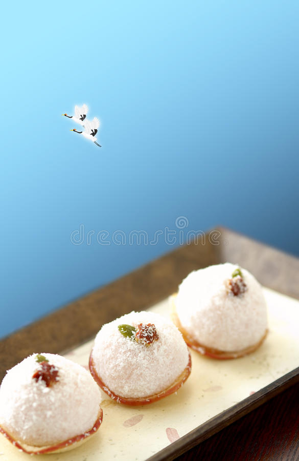 Japanese cakes or buns stock photography