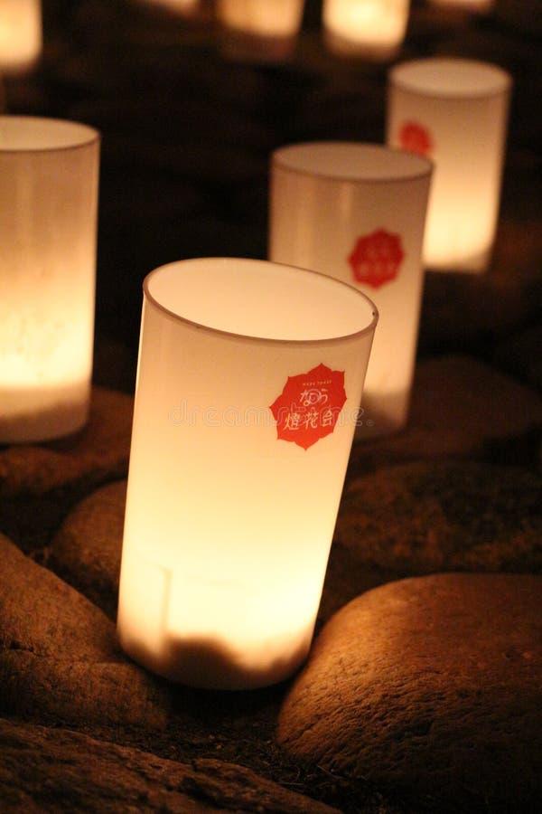 Japanese Candle at Nara stock photos
