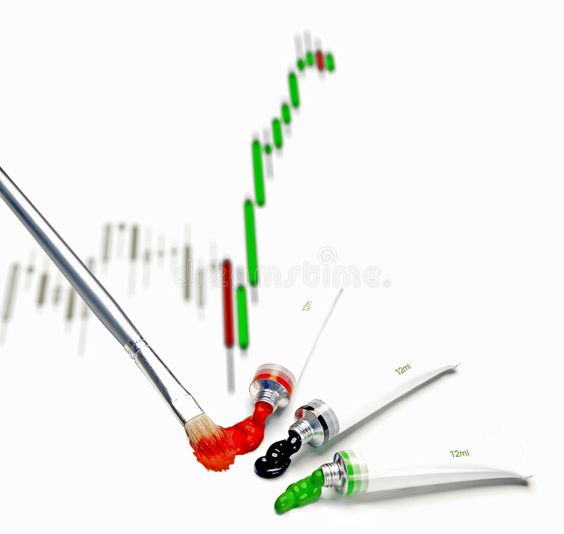 Japanese candlestick chart royalty free stock photography
