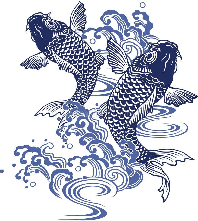 Japanese carp vector illustration