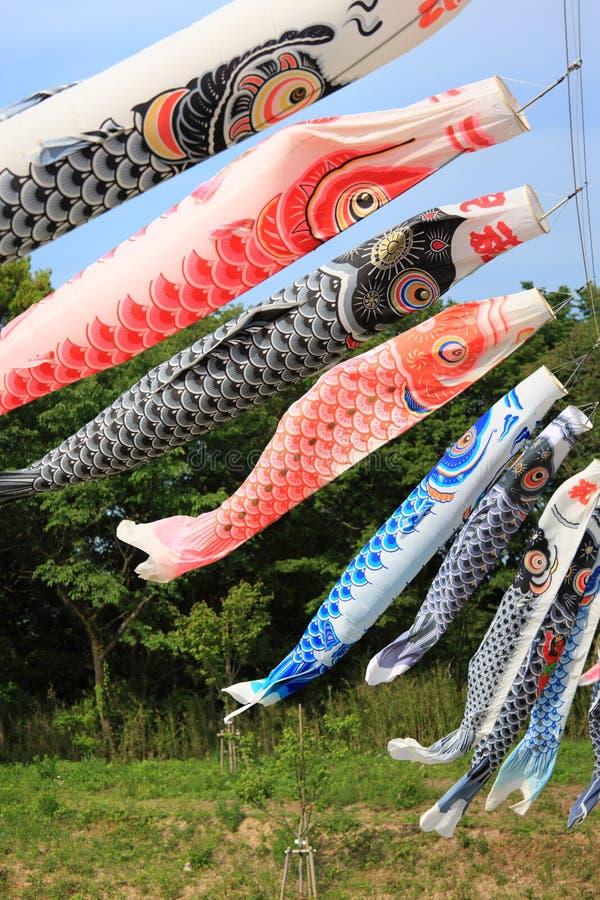 Japanese Carp Streamer stock images