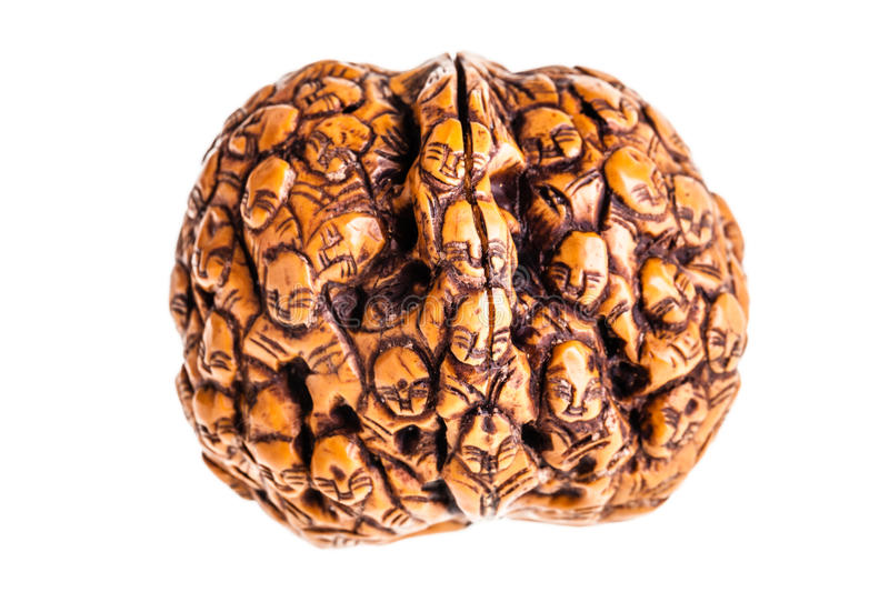 Japanese Carved nutshell stock images