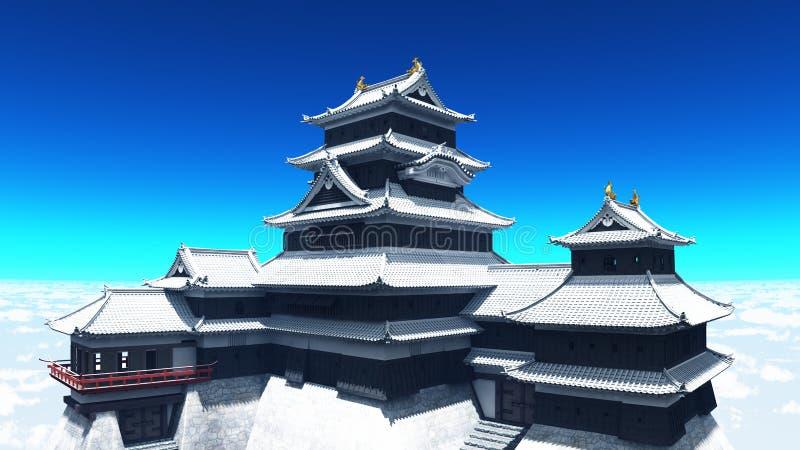 Download Japanese castle stock illustration. Illustration of heritage - 22499745