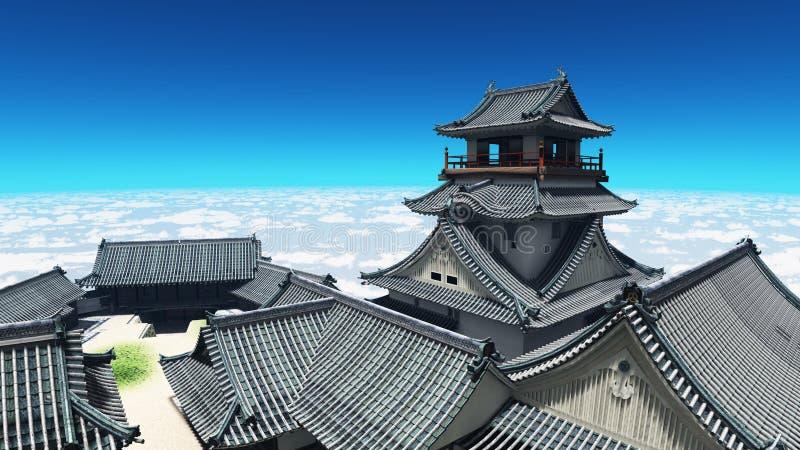Download Japanese castle stock illustration. Illustration of wall - 22576485