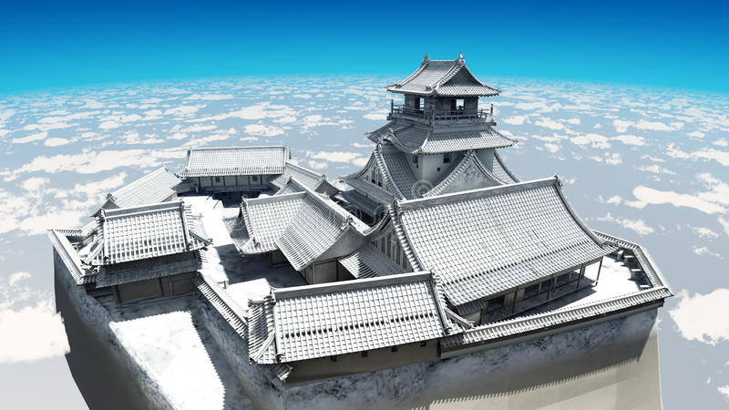 Download Japanese castle stock illustration. Image of tile, outdoors - 22576544