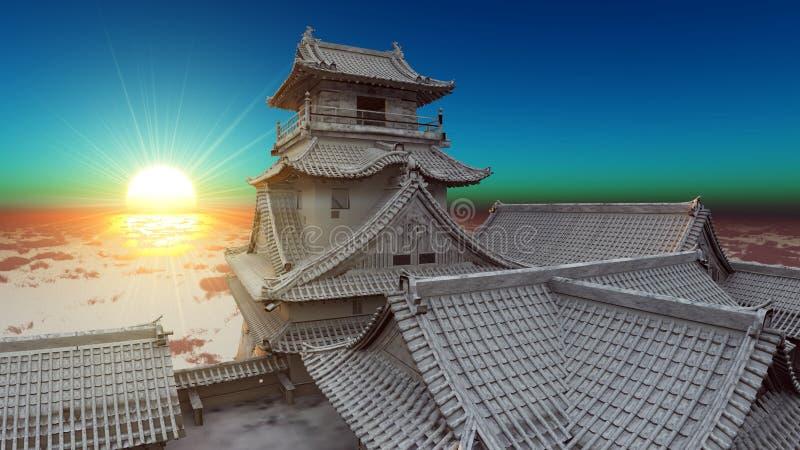 Download Japanese castle stock illustration. Illustration of heritage - 22576572
