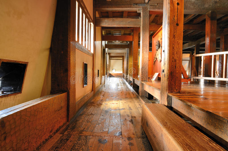 Japanese Castle Hallway royalty free stock photo