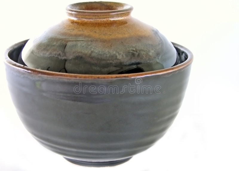 Japanese ceramic bowl stock photography