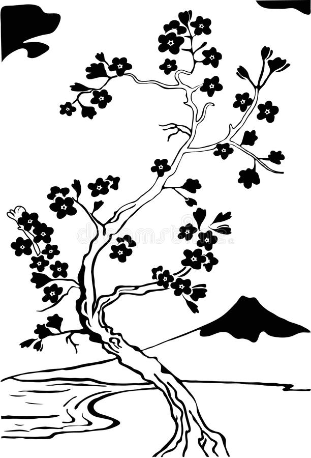 Download Japanese Cherry Tree. Sakura. Stock Vector - Image: 10012422