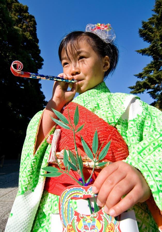 Japanese Child in Kimono at shichi-go-san