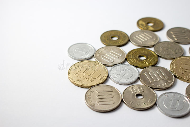 Japanese coins stock photos