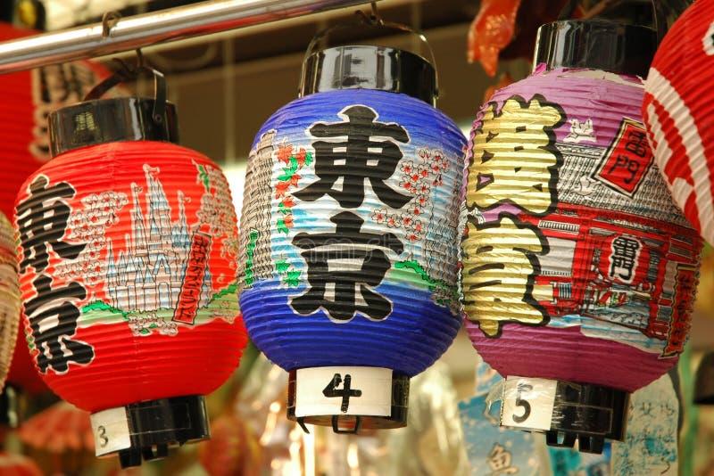 Japanese colorful lantern royalty free stock image