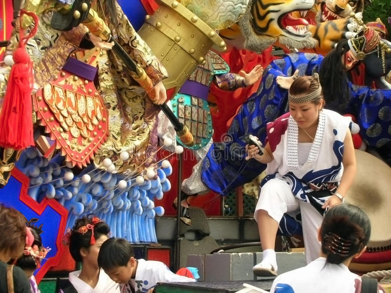Japanese colorful summer festival