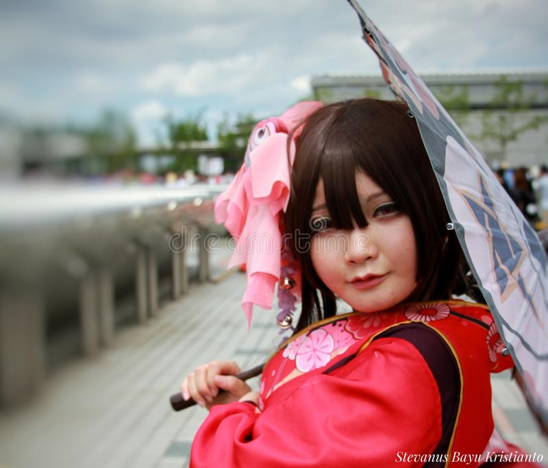 Japanese Cosplayer. Comicet summer festival 2017. Tokyo Bigsight, 13 august 2017 stock images
